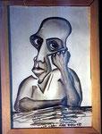 """""""der denker"""", Bleistift, DinA4"""