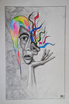 """oT"", Aquarell+Bleistift-, DinA3"