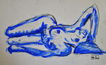 """""""oT"""", Aquarell+Bleistift-Tusche, DinA3"""