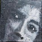 """""""paranoid eyes"""",  Lack auf Holz, 130*130cm"""