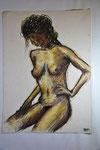 Din A2, Bleistift-Ölpastellkreide