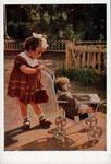Маленькая мама. Цветное фото Е.Мичуриной и И.Ефимова 1955