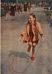 Ленинград. В летнем саду. Цветное фото Л. Зиверта 1955
