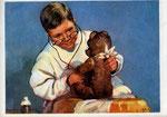 Мишку вылечить готов… худ. И.Коминарец 1955г «Мишку вылечить готов Доктор замечательный Будет мишенька здоров, Будет обязательно».