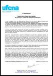 Communiqué UFCNA 180118