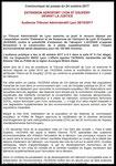 Communiqué de presse du 24/10/2017 - Audience Tribunal Administratif de Lyon le 26/10/17