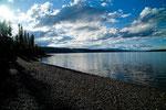 Frances Lake von unserem Stellplatz aus