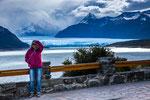 ...unser erster Blick auf den Moreno Gletscher...
