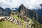 Die legendäre Ansicht von Machu Picchu...
