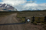 """Hier beginnt der """"Parque Nacional Perito Moreno""""..."""
