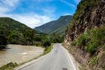 ....entlang des Rio Utcubamba ist inzwischen komplett geteert.....