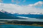 ...während der Lago Argenino (hinten) türkisblau ist...