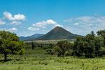 ...es gibt einige Vulkanberge hier - aber alle schon erloschen.