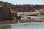 Kanuten auf dem Rio Grande