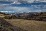 """Die Ruinen-Anlage mit dem """"Blanca Christo"""" im Hintergrund..."""