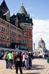 """Flaniermaile vor dem """"Hotel Fairmont Chateau Frontenac"""""""