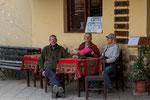 ...mit Els und Gerrit im Café in Ollanta...