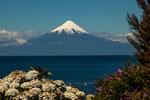 ...und der Vulkan Osorno schwebt über dem See...