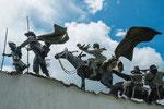 ....ein martialisches Denkmal gegen die Ausbeutung der Spanier.....