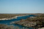 """einer von vielen Seitenarmen des """"Amistad Lakes"""""""