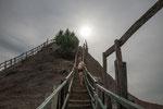 Auf dem Weg ins Innere des Vulkans Totuma....