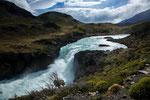 Der Wasserfall ist nicht hoch und nicht breit...