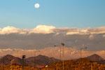 Blick von unserem (privaten) Stellplatz bei Festo auf die Anden...