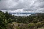 ....und Blick auf Laguna de Tota mit seinen Inseln...