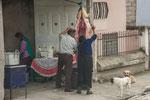 Auf den Nebenstrassen ist dies in Südamerika kein ungewöhnlicher Anblick.....