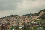 ....der Süden von Bogota ist extrem dicht besiedelt.....