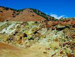 unglaubliche Farben des Gesteins