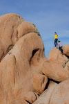 Tina und Andreas beim Klettern