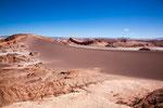 Fels- und Sandformationen wechseln sich ab...