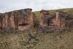 ...diesen Weg nahmen vor 13.000 Jahren schon die Guanacos...