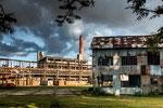 Die zerfallenen Industrie-Ruinen sind schon wieder Kunst...