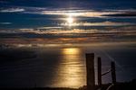 ...der Sonnenuntergang über dem See...