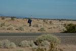 ein einsamer Wanderer entlang der I-8