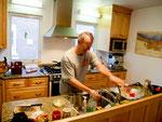 Boyd beim kochen