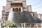 ...die restlichen Mauern des Sonnentempels (Qoricancha)...