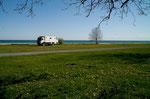 Unser Stellplatz auf dem Qinte´s Campground bei Salmon Point