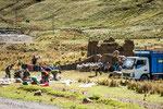 ....eine Schafschur in den Anden....
