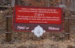 Die First Nation Leute leben etwas außerhalb von Bear River