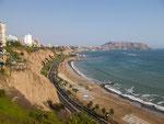 ....die Steilküste von Miraflores.....