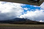 ....während der Regenzeit ist der Cotopaxi zu 99% in Wolken.....
