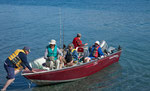 Start zum Fischen mit Warren´s Boot