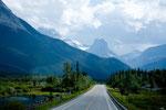Strecke Calgary nach Banff