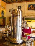....eine hundert Jahre alte Kaffeemaschine - made in Italy.....