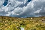 ...wir hatten immer wieder dramatische Wolkenformationen - aber keinen Tropfen Regen...