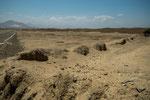 Chan Chan ist vollkommen umgeben von Wüste....