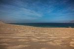 ...unser traumhafter Stellplatz - im Rücken die Wüste und vorne der Pazifik....